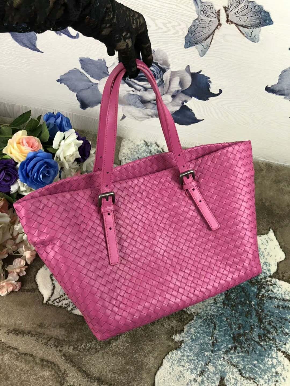 2018 women handmade material crochet handbag classic genuine sheep skin leather handbag casual tote big size simple kintting bag vb 33cm new