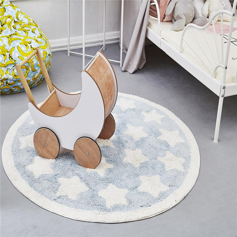 Perfect 2018 New Nordic Style Cotton Round Kid Carpets For Living Room Bedroom Kid  Room Rugs Home Floor Door Mat Delicate Area Rug Mats Tuftex Carpet Shaw  Carpets ...