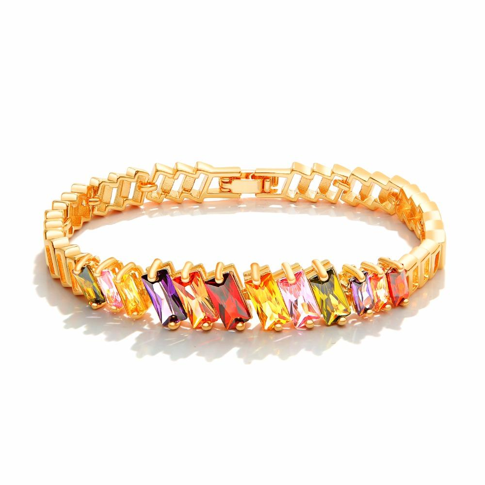 Ladies Silver Fashion Bracelet Pretty And Colorful Bracelets Jewellery & Watches