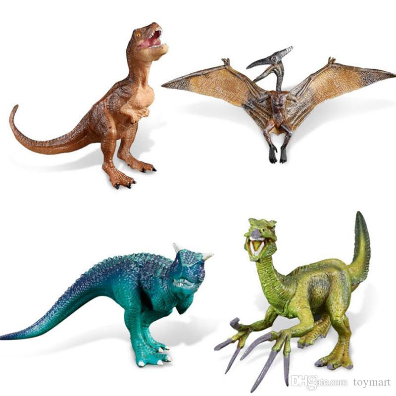Compre Juguetes Del Modelo Del Dinosaurio 4 Tipos 12 23cm ...