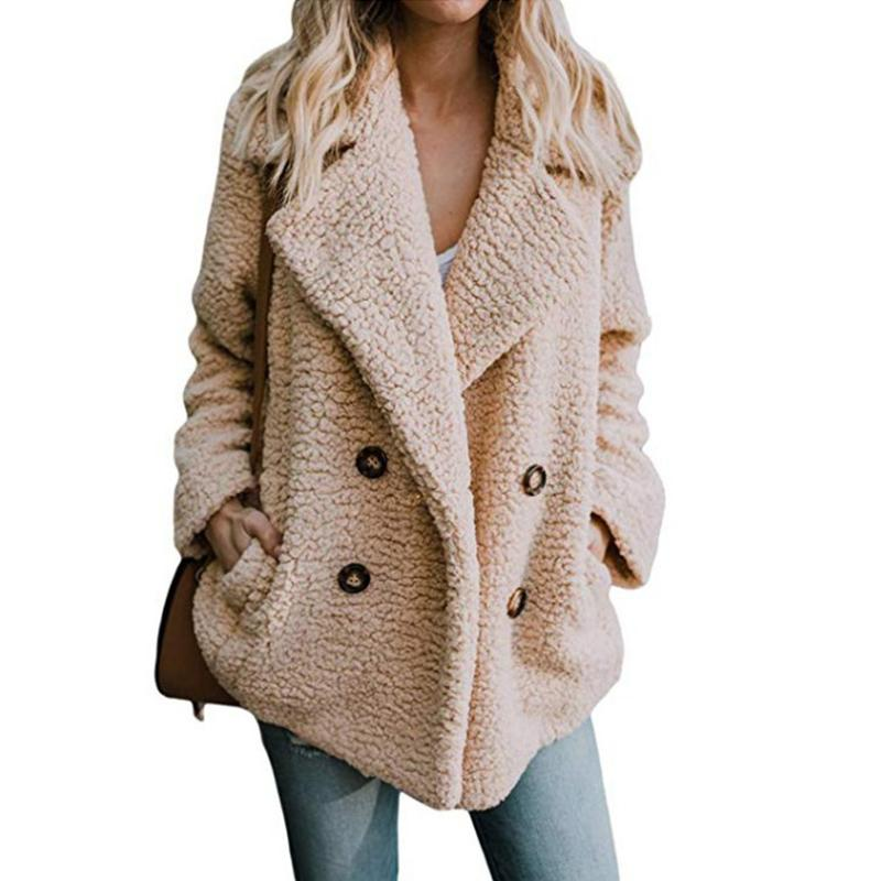 5daf854dc Liva Girl Faux Lambswool Oversized Jacket Coat Winter Warm Hairy ...