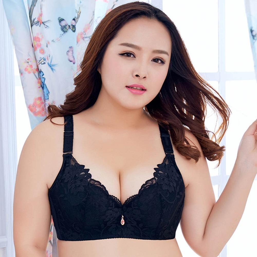 1d87a9a3a655f 2019 Plus Size Bras Women Underwear Intimates For Big Breast Push Up Sexy  Lace Brassiere Conjuntos Bust Tops Female Lingerie D E Cup From Meinuo003