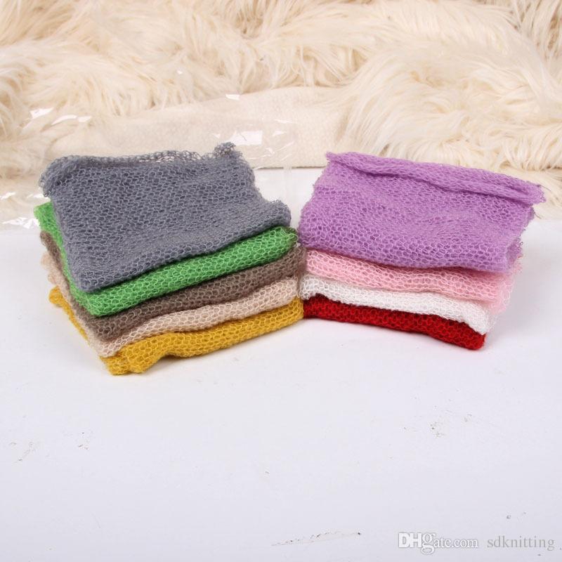 Baby Photography Props Wrap Swaddle Newborn Stretch Knit Wrap Blanket Parisarc Bedding Sleepsacks Scarves Baby Newborn Photo Props