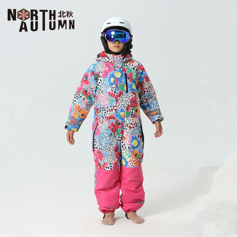 a7e9b5dcee1f 2019 Ski Suits For Girls Snowboard Set Kids Russian Winter Sport ...