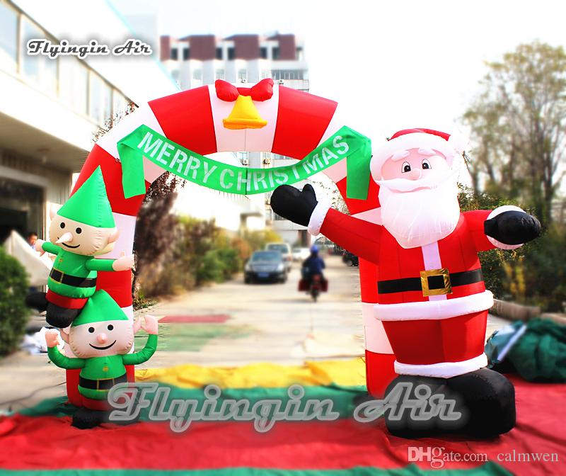 merry christmas inflatable santa arch custom 3m height blow up xmas archway for outdoor entrance decoration christmas inflatable arch inflatable santa arch