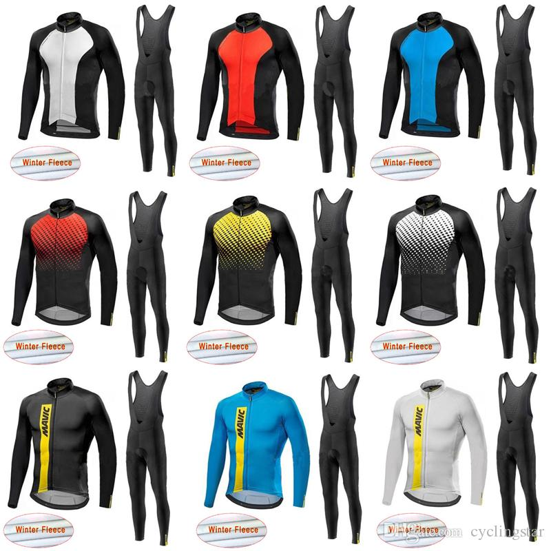 2018 Long Sleeve Ropa Ciclismo Invierno Mavic Bike Clothes Cycling Jersey  Bib Pants Set Winter Thermal Fleece MTB Bicycle Clothing C2703 Best Cycling  ... 87ff0ad7f