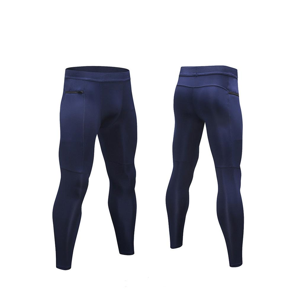 2ee22c6dc2009 2019 Men Compression Leggings Zip Pocket Running Fitness ...