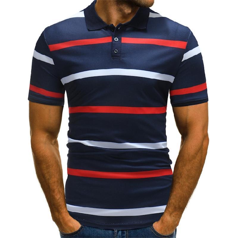 Compre Novo Verão 2018 Roupas De Marca Dos Homens Camisa Polo Homem De  Negócios Listrado Camisa Masculina Casual Polo Camisa De Manga Curta  Respirável Pólo ... fd787de730d0a