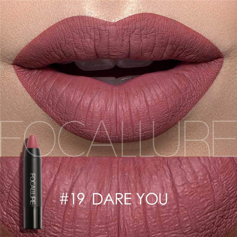 Brand 2017 Focallure Makeup Matte Lip Stick Pigment Purple Nude Red Waterproof Long Lasting Sexy Lips Matte Lipstick Lot
