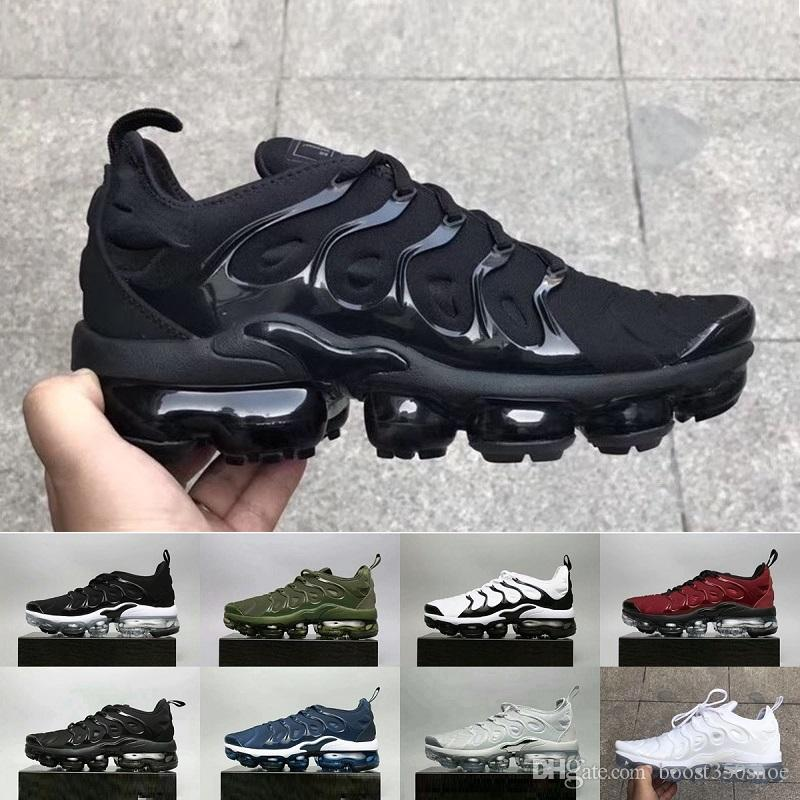 Vapormax TN Plus Olive In Metallic White Silver Colorways Shoes Men Shoes For Running Male Shoe Pack Triple Black Mens airs Shoes size:36-46 free shipping best prices sale tumblr YfixEZfV