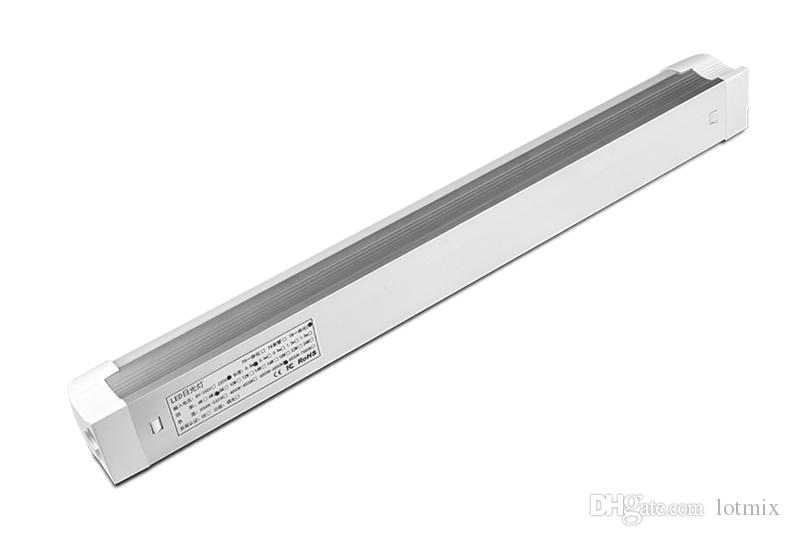 220V 8W 12W T8 LED Lámpara de tubo Tubo Blanco cálido LED Fluorescente Tubo de luz PVC LED 30CM 60CM T5 Bombilla de tubo Luz blanca Lámparas de pared