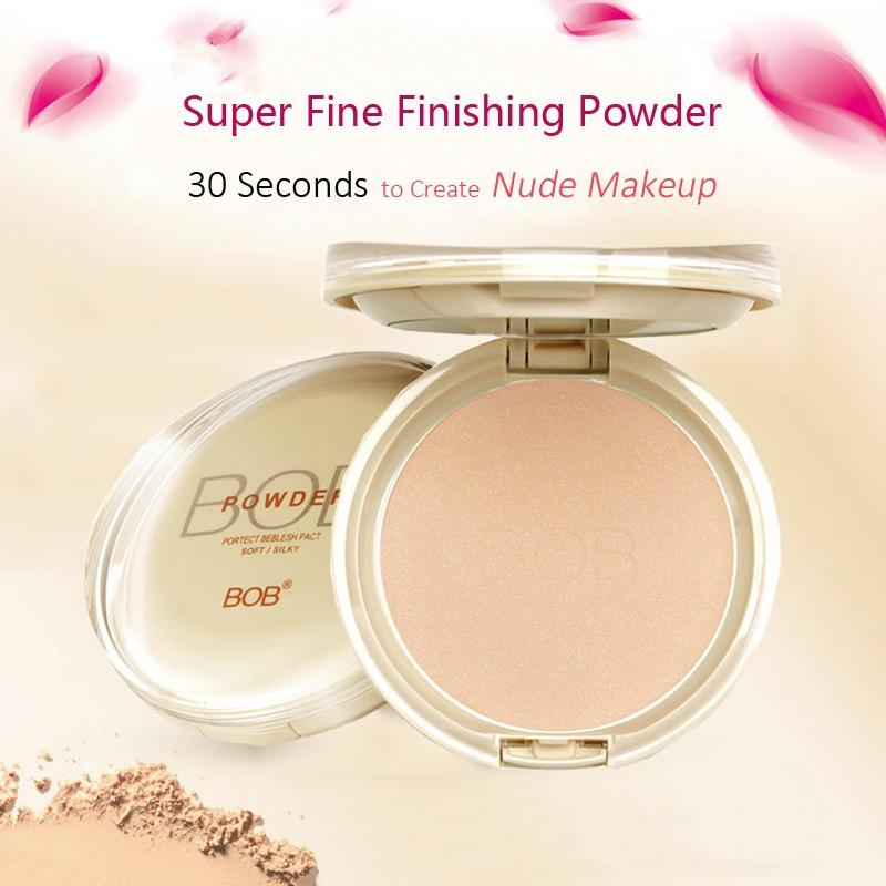 BOB Super Fine Finishing Powder Translucent Soft Silky Flawless Moisturizing Pressed Setting Powder Professional Face Makeup