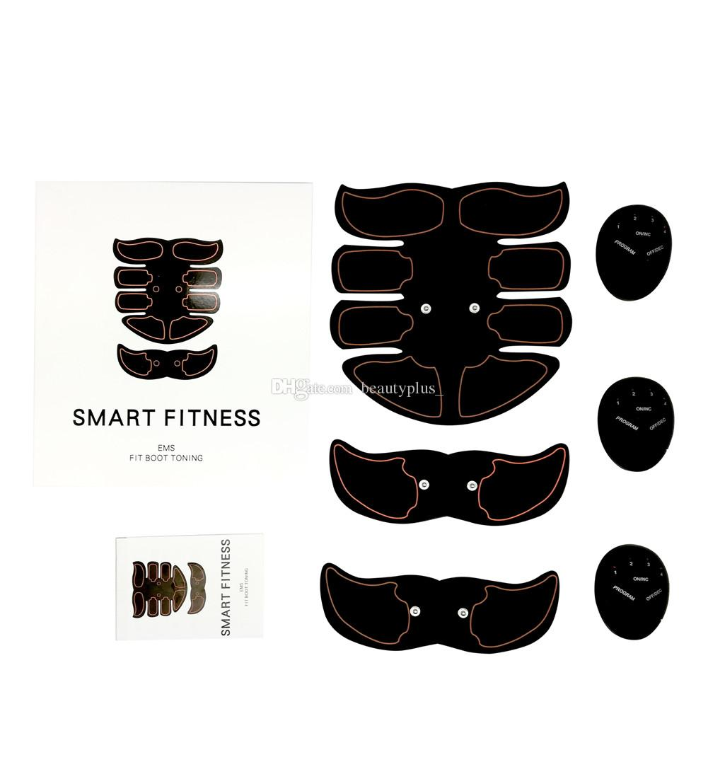 Eight-pack ABS Muscle Toner Mobile-Gym Smart Fitness EMS Micro-electronic Fit Boot Toning Workout Equipment Orange Line