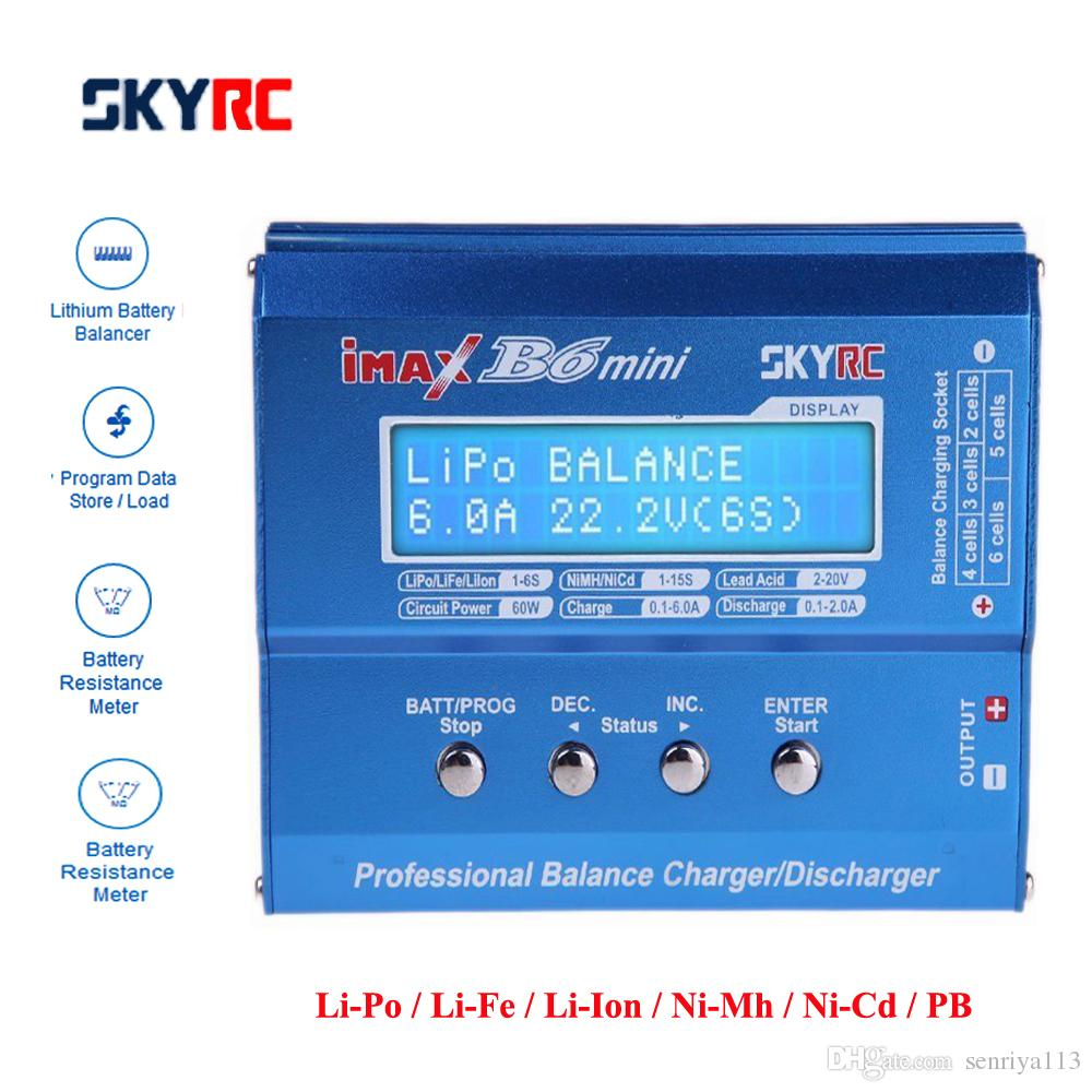 Original SKYRC IMAX B6 MINI Balance Charger/Discharger For RC Helicopter Re-peak NIMH/NICD Aircraft+Power Adpateroptional
