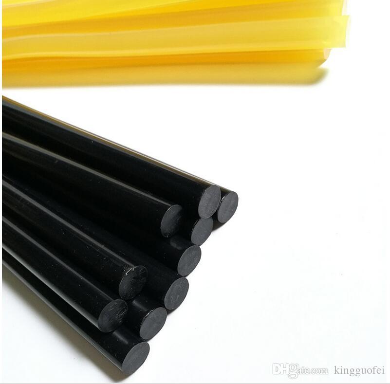 PDR Клей 10 шт. / Лот Сильный Желтый Черный Клей-Палочки для Тягового Клея Paintless Профессиональный Супер PDR Dent Инструменты для Ремонта 11 мм Х 27 мм
