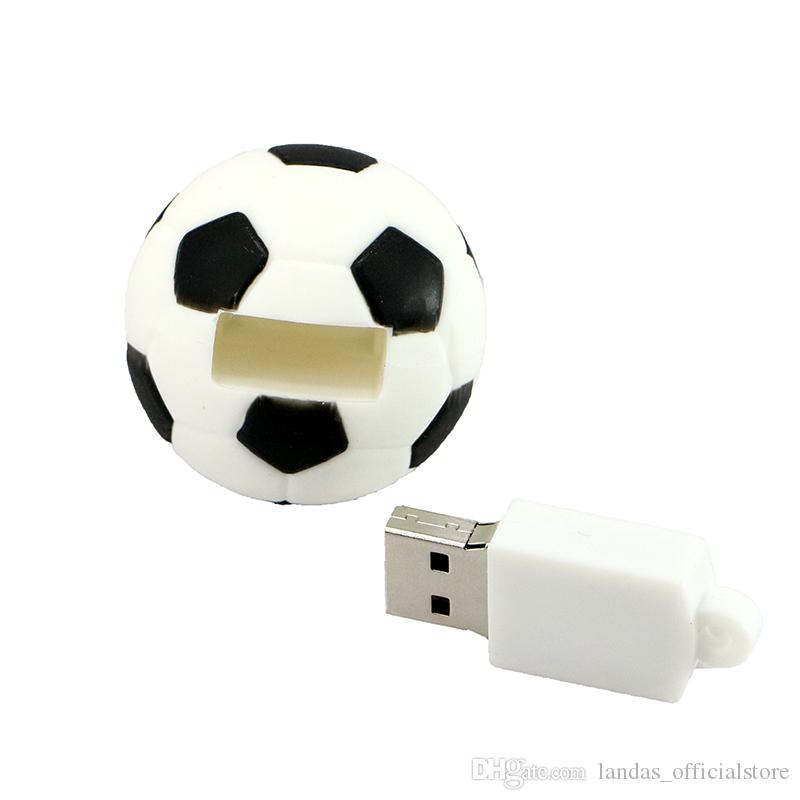 Pendrive Football USB Stick 8GB 16GB 32GB 64GB Cartoon Basketball Flash Drive USB 2.0 Flash Memory Disk 128GB Pen Drive