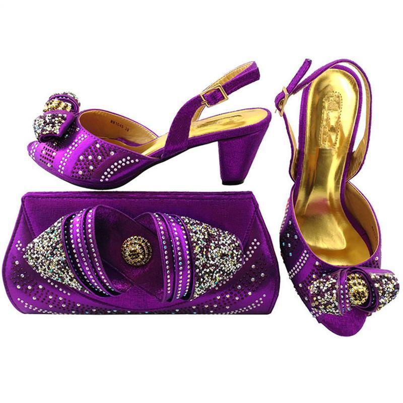 eb803d72b Compre Chegada Nova Senhoras Italianas Sapatos De Festa E Sacos Para  Combinar Conjunto Decorado Com Strass Nigeriano Sapatos De Casamento Das  Mulheres E ...