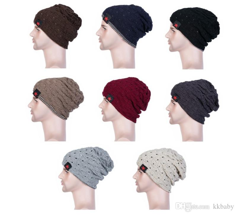 50f5cd52512 Fashion Unisex Hats Women Ladies Winter Knit Hat Beanie Reversible Skull  Caps Chunky Baggy Warm Hip Hop Cap Crochet Baby Hats Ladies Hats From  Kkbaby