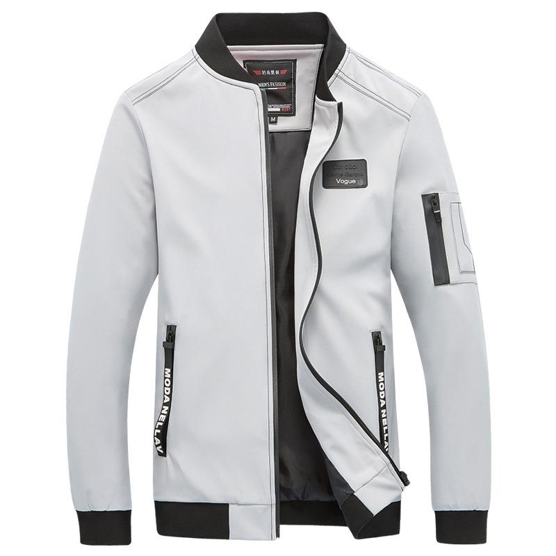 b2ba8d9d0 Men College Casual Jacket Spring Autumn 2018 Male Brand Classic Windbreaker  Thin Varsity Summer Coat Mens Fashion Overcoat 5XL