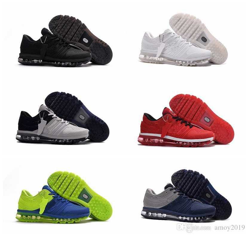 2018 Men Running Shoes BENGAL Orange Grey Black Gold Maxes 2017 KPU Cushion Sports  Sneakers Mens Trainers Athletic Shoes Size 40 47 Shoes Sports Spikes ... d8c157582