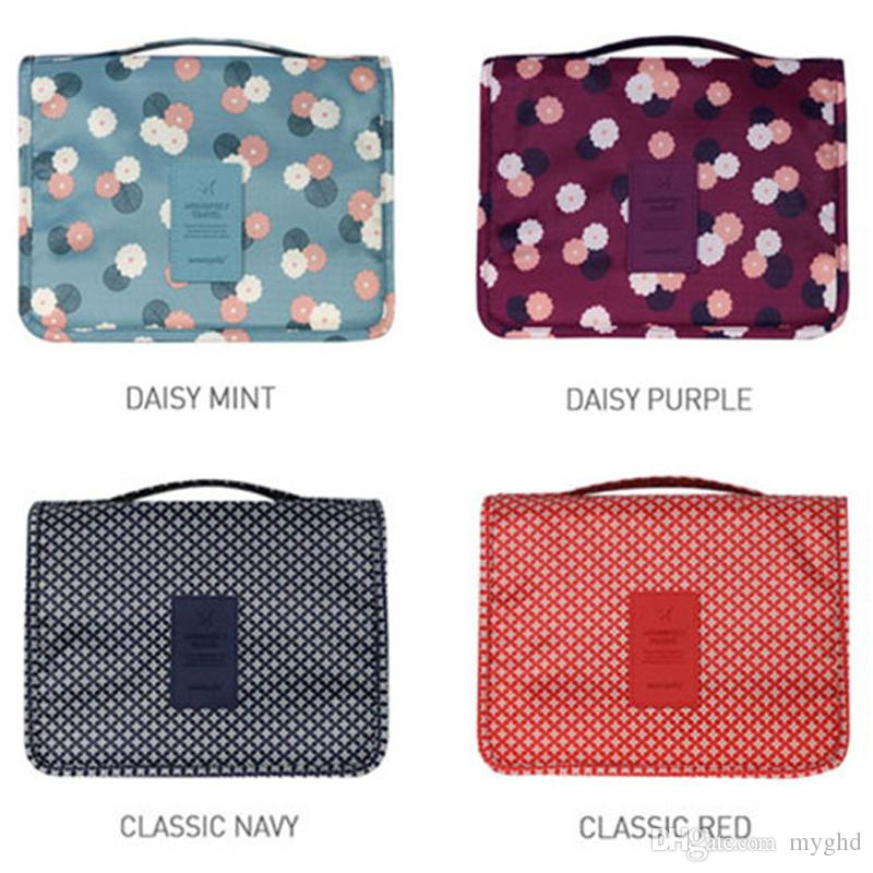 0b26ffba8d Hanging Travel Cosmetic Bag Women Zipper Make Up Bags Polyester High ...