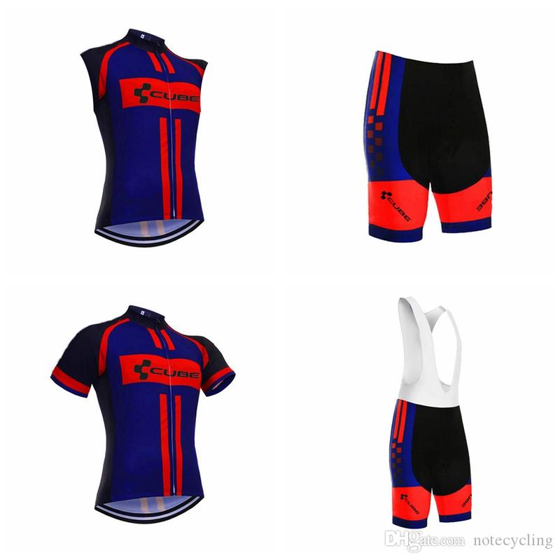 CUBE Cycling Short Sleeves Jersey Bib Shorts Sleeveless Vest Sets Mens  Cycling Jersey Cycling Clothing Bike Shirt Roupa Ciclismo A41324 Cycling  Uniforms ... da268cff8