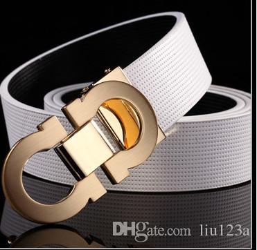 2018 Il nuovo modo di affari del Mens Cinture lusso Cintura con fibbia automatica cinghie di cuoio genuine trasporto degli uomini della cinghia di vita libera