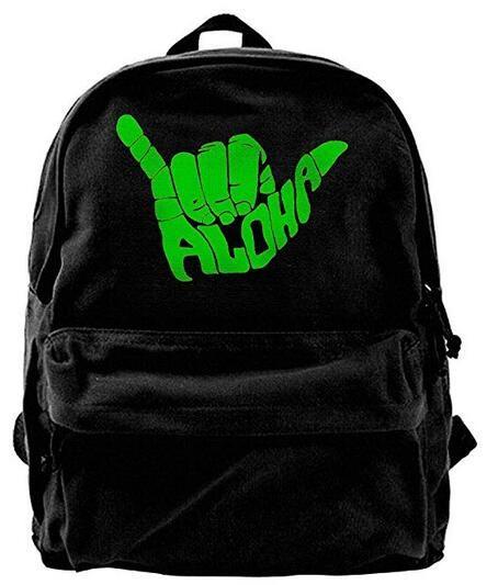 721326c83d26 Aloha Hand Hawaii Symbol For Men & Women Fashion Canvas Backpack Travel bag  School bag rucksack duffle bags designer handbags