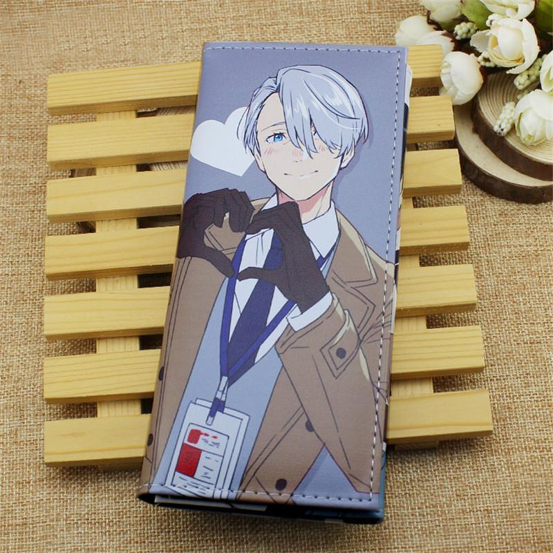 Anime Yuri Auf Eis Cosplay Unisex Lange Brieftasche Victor Nikiforov PU Leder Geldbörse Cartoon Kartenhalter Mode Studenten Geschenke