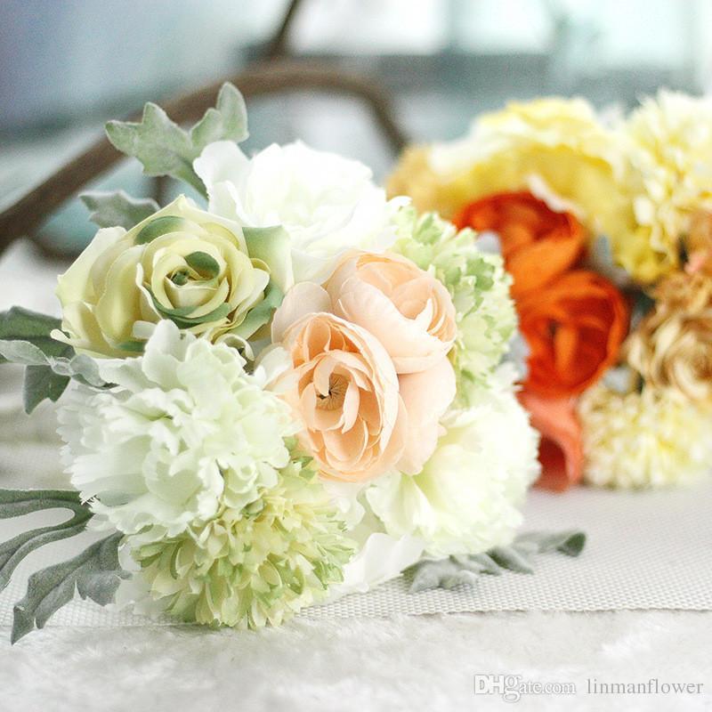 High Quality Silk Flower Korean 1 Bouquet Artificial Flowers Fall