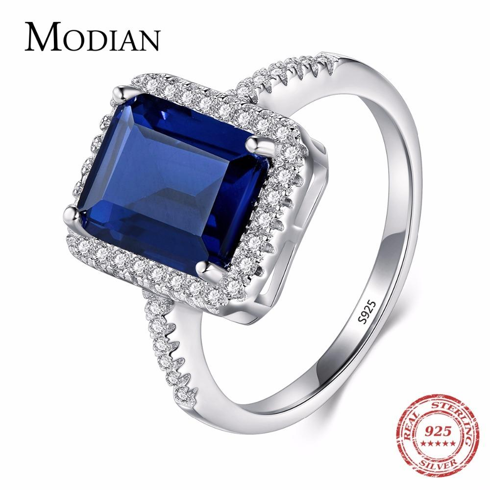 Grosshandel Modian Design Mode Echt 925 Sterling Silber Blau Special