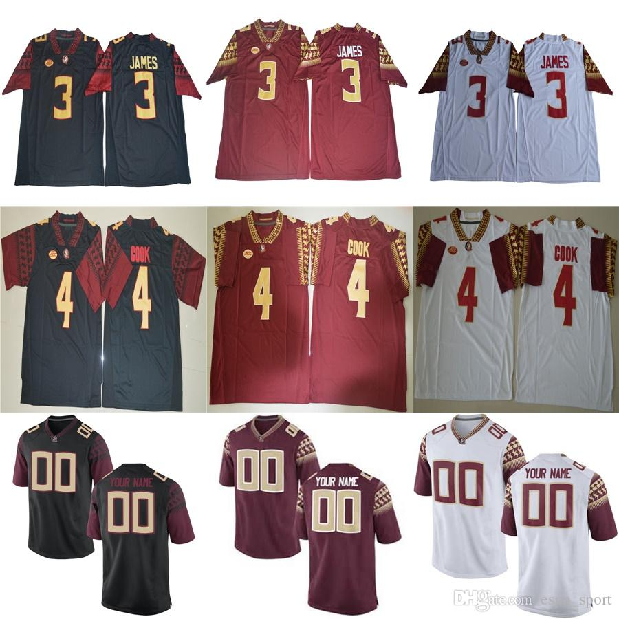 2019 Mens Florida State Seminoles 3 Derwin James 12 Deondre Francois Cam  Akers 5 Winston Back Red White Mens Womens Kids College Football Jerseys  From ... 1e0f4aa3a