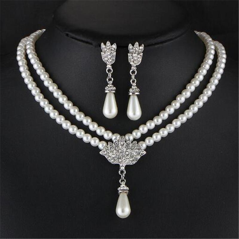 Brautschmuck set mit perlen