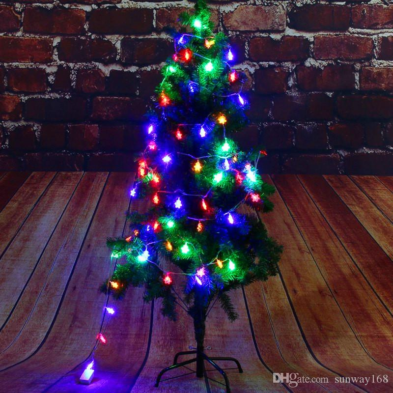 selling christmas tree decoration led lights string holiday lights 28 led christmas lights waterproof bells snow