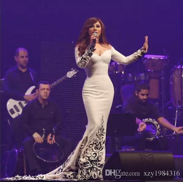 Glamorous dubai árabe celebridade vestido destacável capa fora do ombro mangas compridas frisado applique sereia vestido de noite vestidos de baile de moda