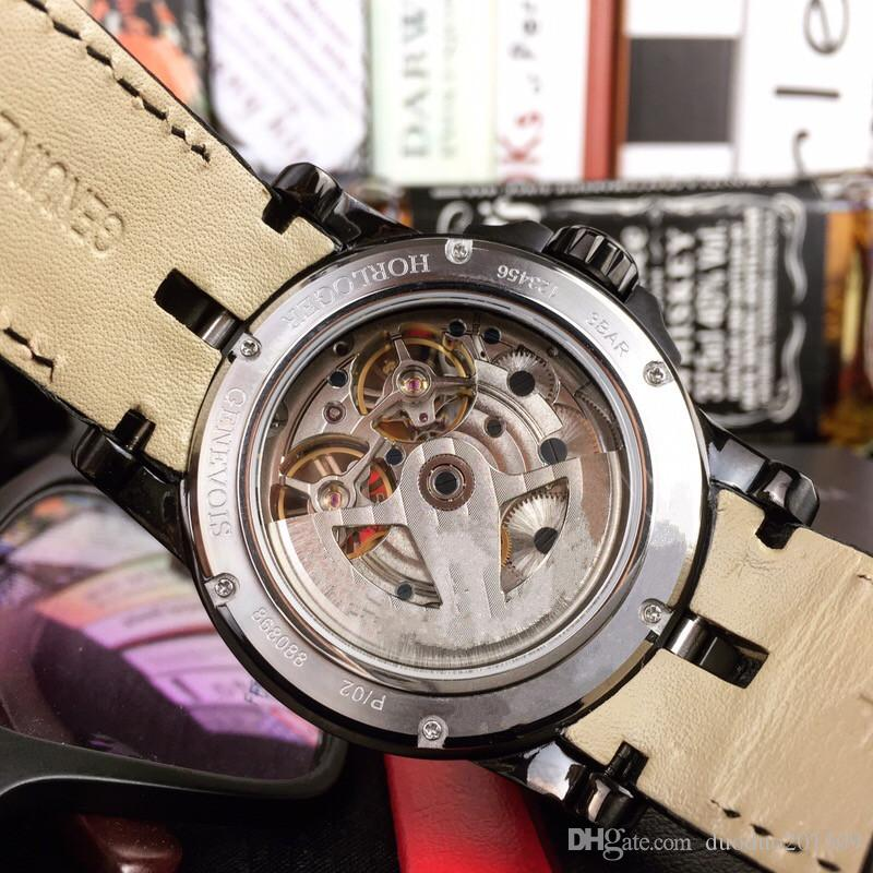 2018 Top quality Man Military watch Stainless steel luxury Casual wristwatch Famous brand Double flywheel male clock Fashion sports New watc