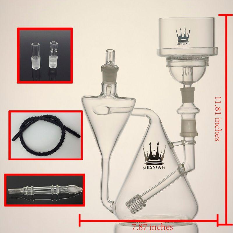 new style glass hookah bongs shisha New design water pipes mini hookah tire perc oil rigs