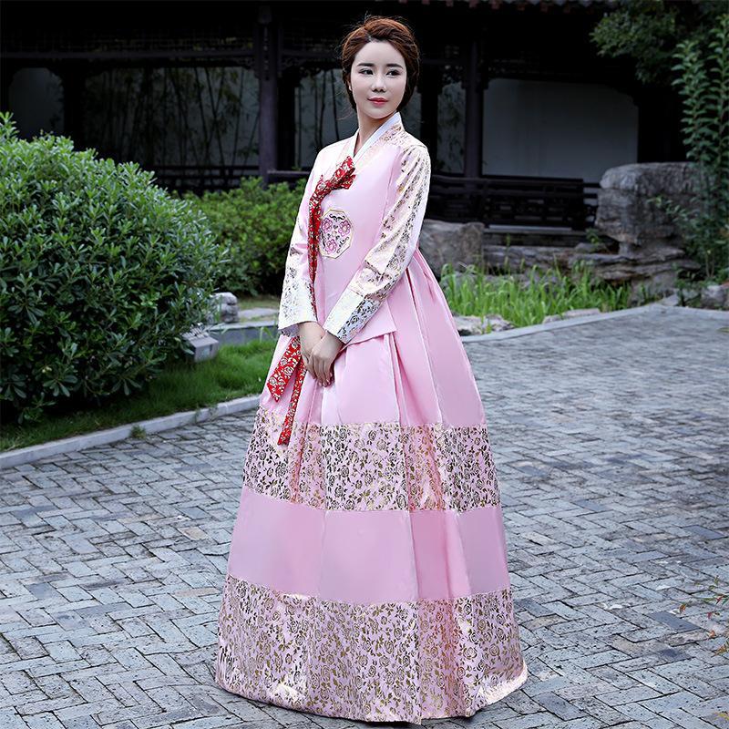 Acquista Costume Femminile Di Hanbok Tradizionale Di Fascia Alta Abbigliamento  Da Prestazione Annuale Di Danza Popolare Coreana A  89.92 Dal Beautyjewly  ... fb7e2ed6838