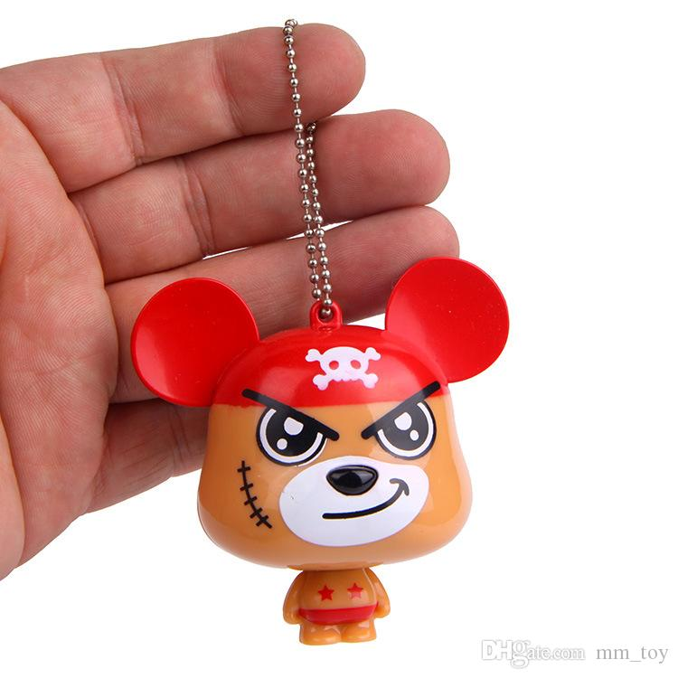 DIY Home Decoration Tool Box Packaged Simple Tape Measure One Piece Bear Couple Key Chain Bags Pendant