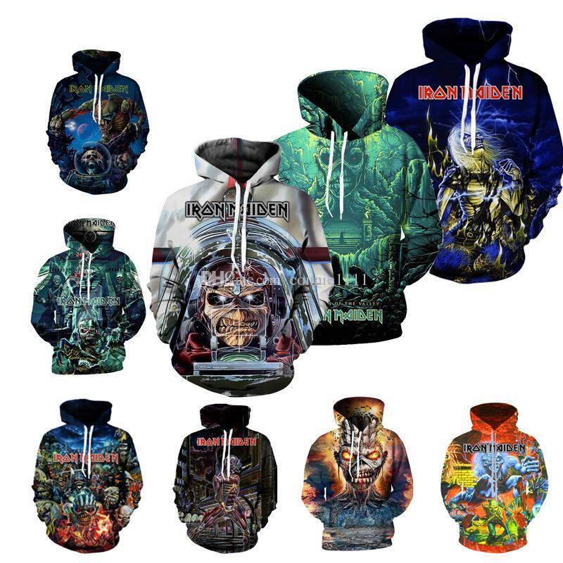 2019 Hot Wholesale Hoodies Iron Maiden 3d High Quality Sweatshirt