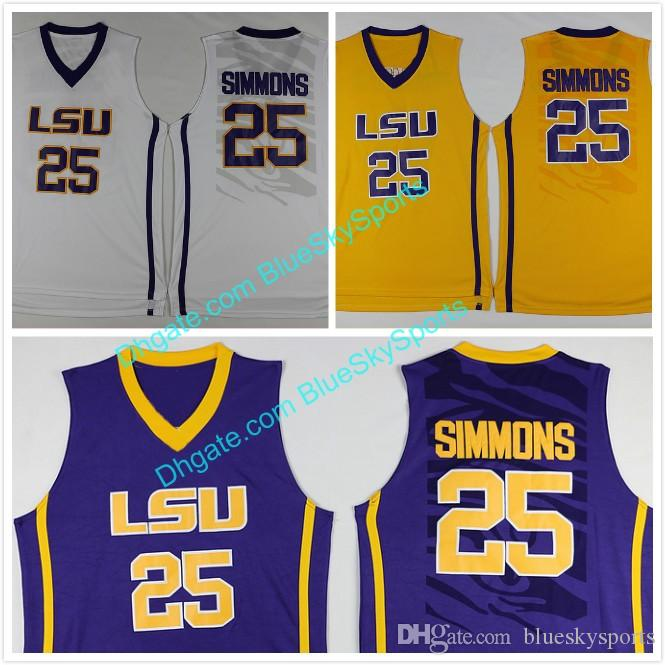 018fb19a598 mens lsu tigers 25 ben simmons white college basketball jersey