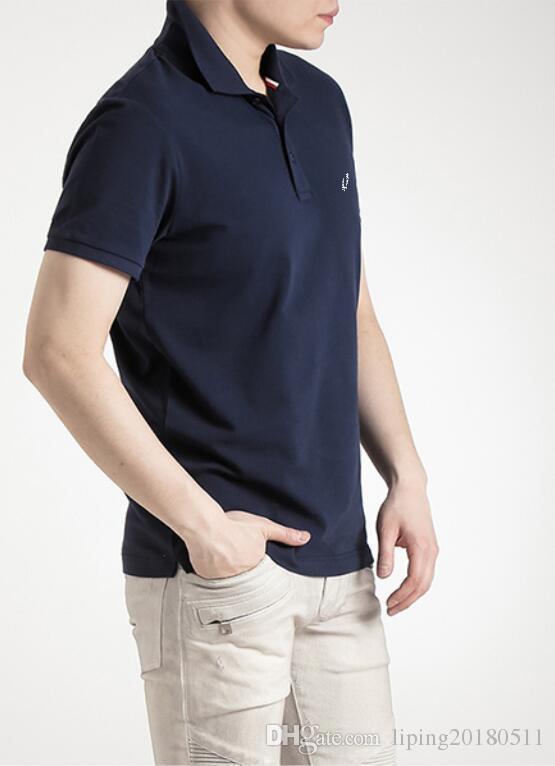 Grosshandel 2018 Beruhmte Business Manner Armel Polo Shirts Beliebte