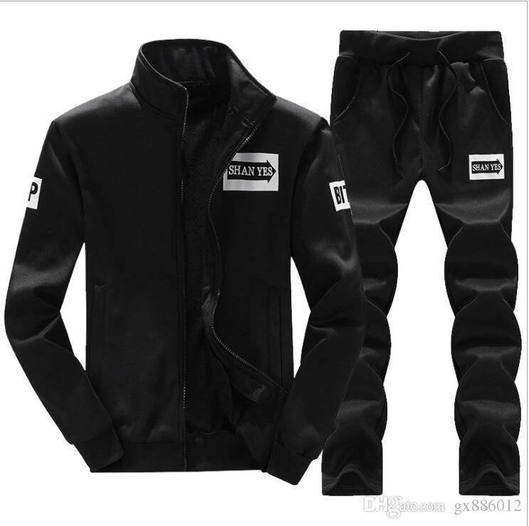 fcfd13f5d9d 2019 Sweatsuit Men Clothing Tracksuit Set Crossfit 2018 Men S Set ...