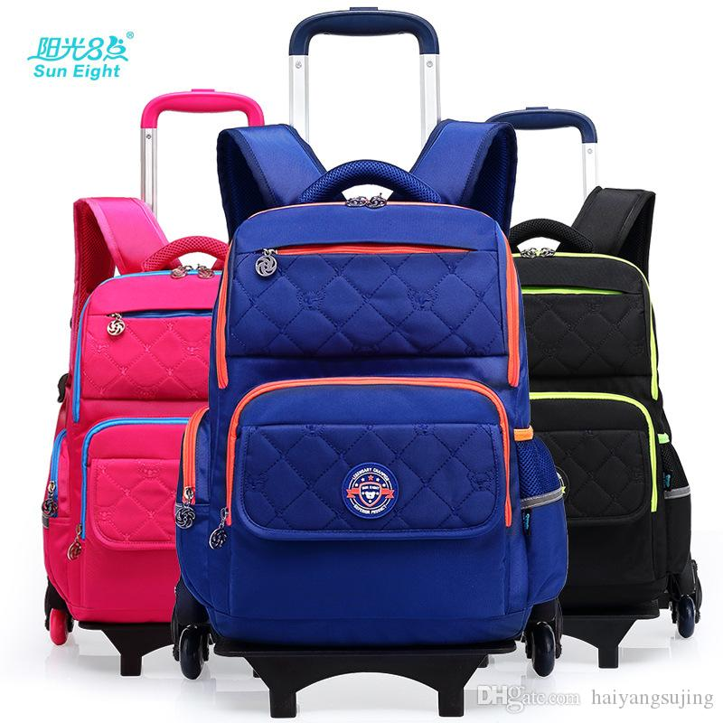 Backpack 6 Wheels Detachable Dual Use Kids Travel Trolley Schoolbag  Children Waterproof School Bags Girls Boys Mochila Escolar Luggage Messenger  Bags For ... 45f0658c39edf