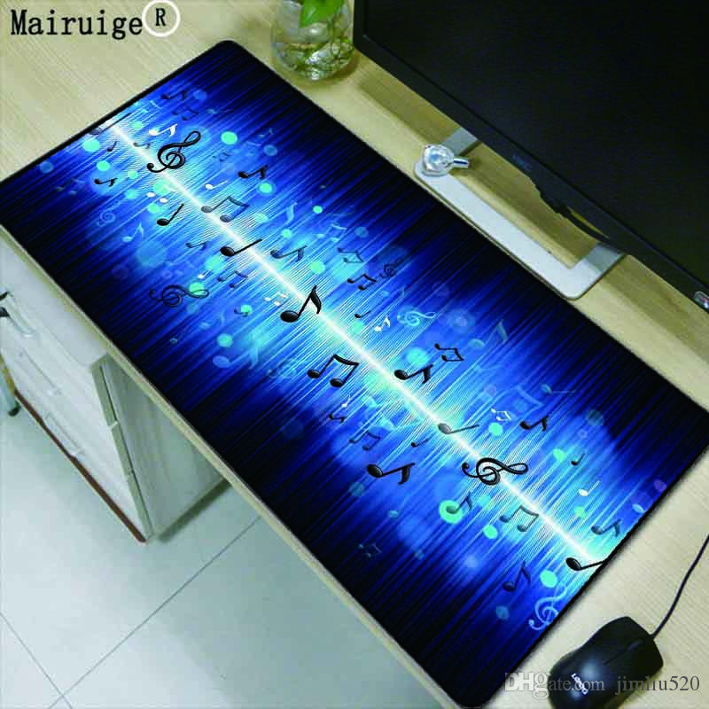 Mairuige Blue Music Symbol Print Large Size Mouse Pad Notebook Home Computer Office Keyboard Mat Game Personality Gift 400900mm