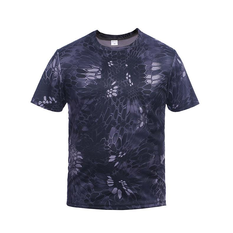 Wrench Outdoor Camouflage Shirts Camping Tactical T-shirts Men Hiking Hunting Quick Dry Short Sleeve Army Camo Military Shirts