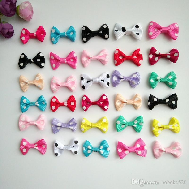 2daffaf3e789 1.4Inch Hair Bows Clips Grosgrain Ribbon Dots Bow With Alligator Clips  Barrettes For Girls Teens Toddlers Kids Fashion Hair Accessories Japanese  Hair ...