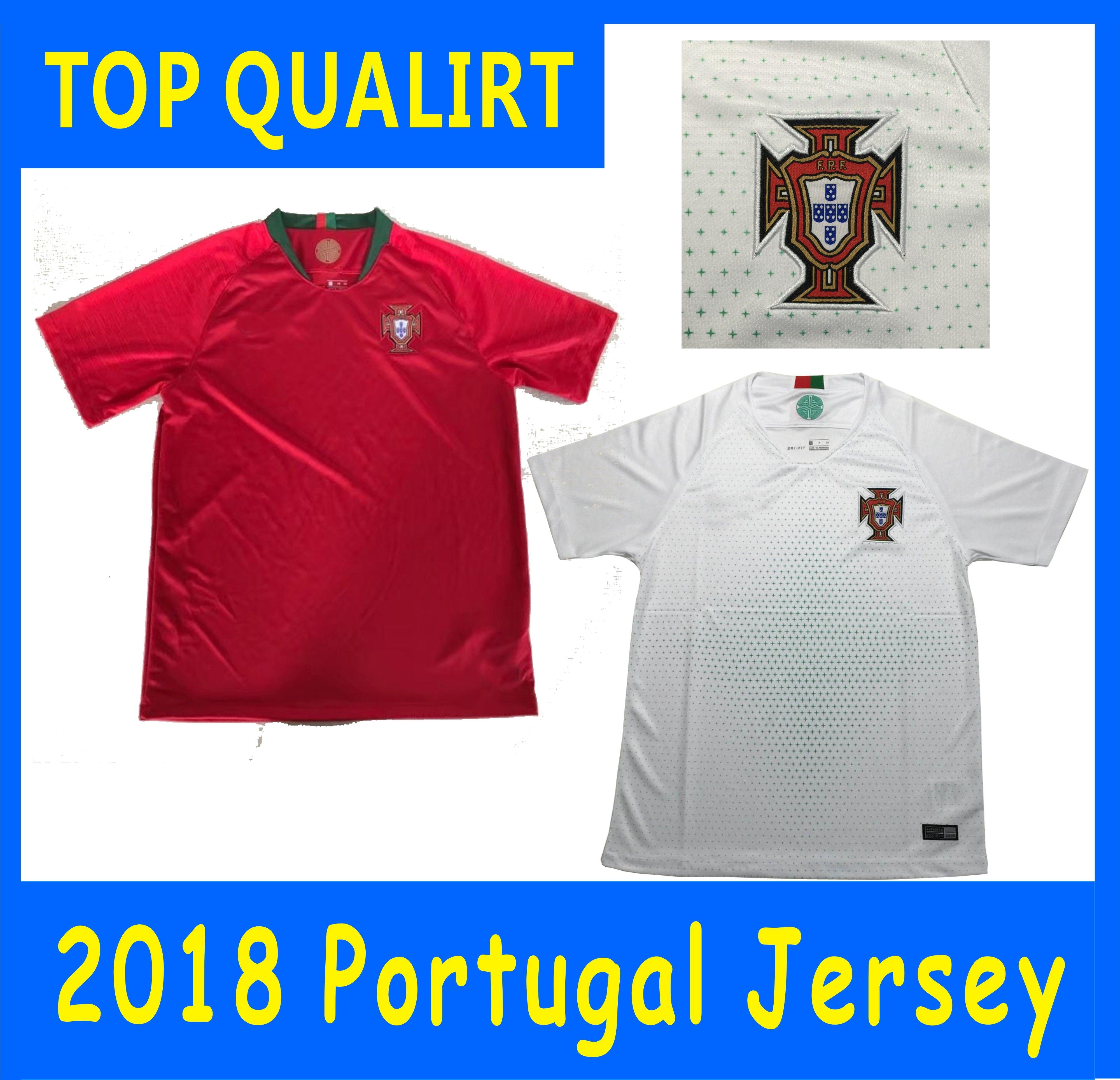 2018 World Cup Jersey Portugal Soccer Jerseys RONALDO QUARESMA NANI ...
