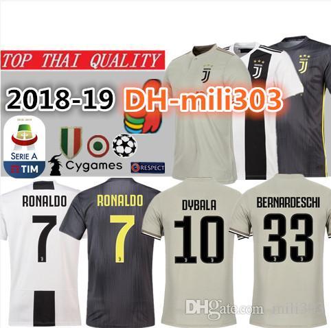 newest 669f5 ccdba 2018 JUVENTUS Soccer Jersey 18 19 JUVE RONALDO Home DYBALA HIGUAIN BUFFON  Camisetas Futbol Camisas Maillot Football Shirt Top Thai quality
