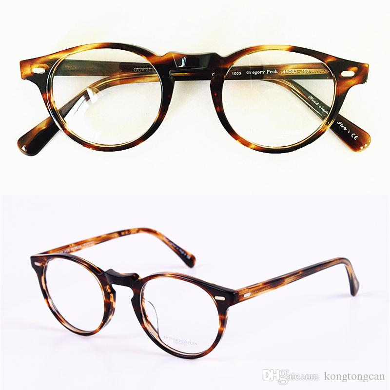3aa922b8dc 2019 Vintage Retro Oliver Peoples OV5186 GEROGY PECK Eyeglasses Frame Women  And Man Brand Design With Original Box And Case Prescription Lens From ...